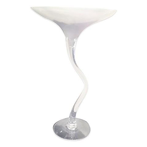 Howard Elliott Martini Glass Vase In White Bed Bath