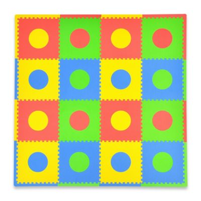 Tadpoles Circles 16-Piece Playmat Set in Primary Multicolor