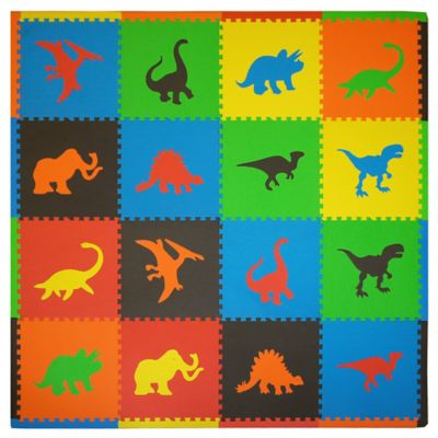 Tadpoles Dino 16-Piece Playmat Set