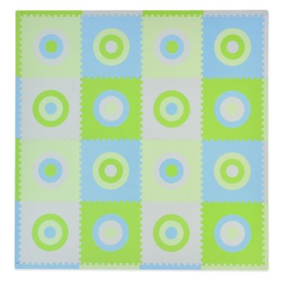 Tadpoles Circles 16-Piece Playmat Set in Blue/Green