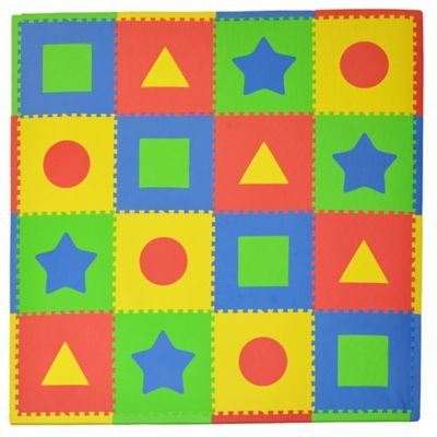 Tadpoles First Shapes 16-Piece Playmat Set in Primary Multicolor