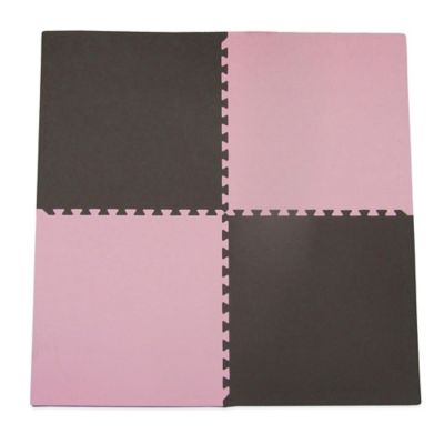 Tadpoles 4-Piece Playmat Set in Pink/Brown