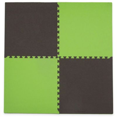 Tadpoles 4-Piece Playmat Set in Green/Brown