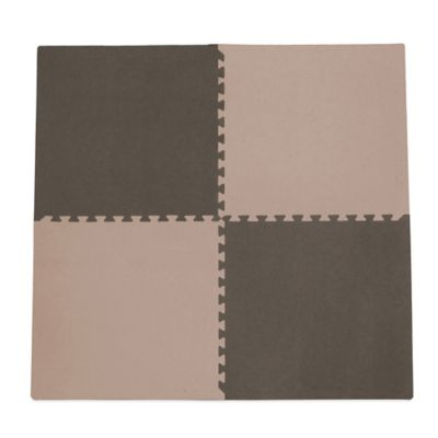 Tadpoles 4-Piece Playmat Set in Taupe/Brown