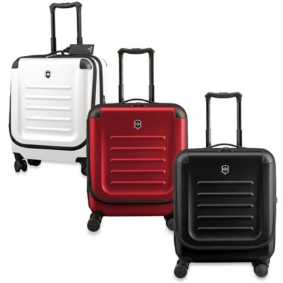 Spectra 8-Wheel Travel Case with Quick-Access Door in White