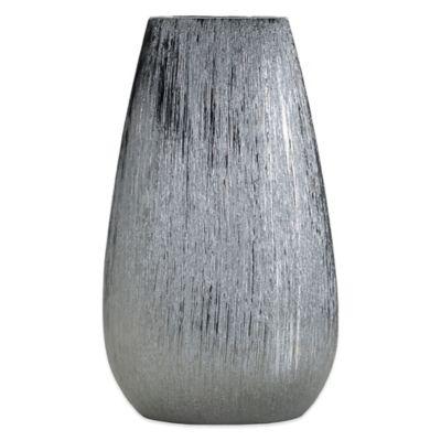 Elements Silver Scratched Ceramic Vase