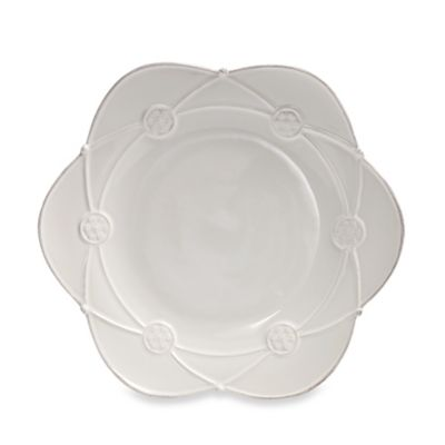 Meridian White 9.5-Inch Decorated Salad Plate