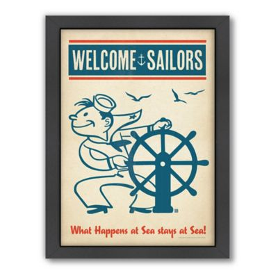 Americanflat Welcome Sailors Digital Print Wall Art