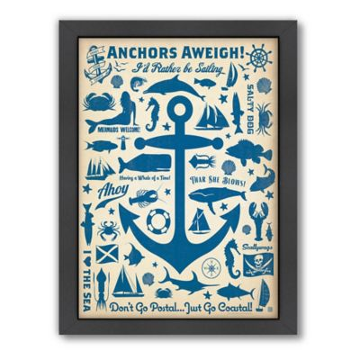 Americanflat Anchors Aweigh Digital Print Wall Art