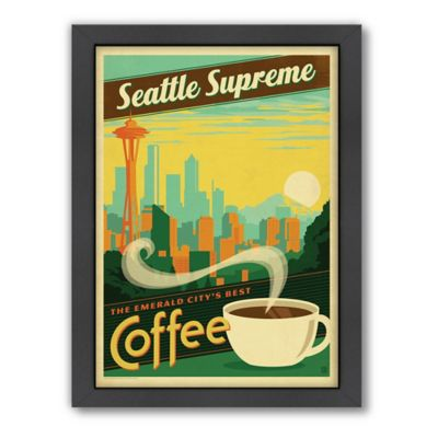 Americanflat Seattle Supreme Coffee Digital Print Wall Art