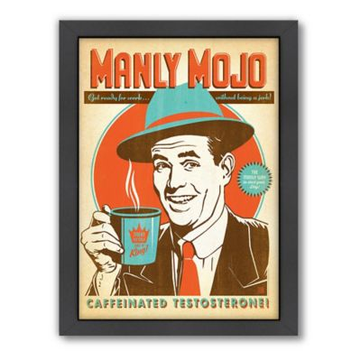 "Americanflat ""Manly Mojo"" Digital Print Wall Art"