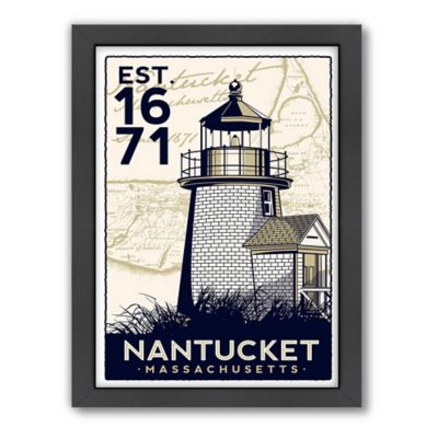 Americanflat Nantucket Lighthouse White Digital Print Wall Art