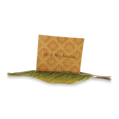 Quest Collection Leaf Place Card Holder 4-Piece Set