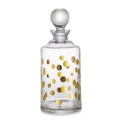 Fitz and Floyd Cocktail Gold Dots Decanter