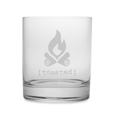 "Etched Novelty Barware ""Toasted"" Rocks Glass"
