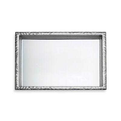 Reed & Barton Heritage Collection Banded Bead Small Mirror Tray
