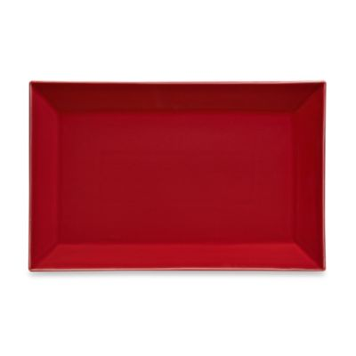 Rectangular Serving Platter in Red