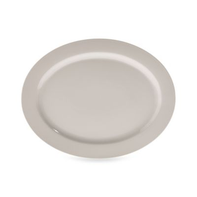 Real Simple® Oval Rim Serving Platter in Ivory