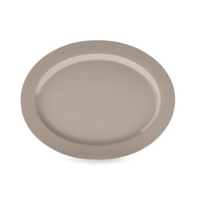 Real Simple® Oval Rim Serving Platter in Taupe