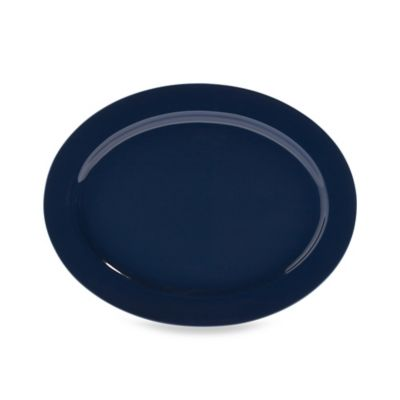 Real Simple® Oval Rim Serving Platter in Marine Blue