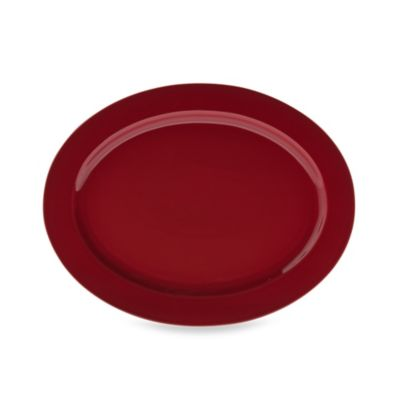 Real Simple® Oval Rim Serving Platter in Red
