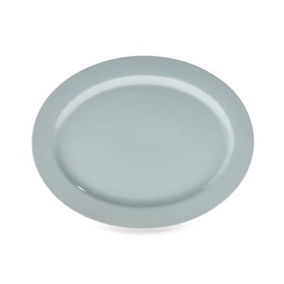 Real Simple® Oval Rim Serving Platter in Seaglass