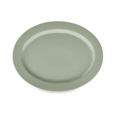 Real Simple® Oval Rim Serving Platter in Sage
