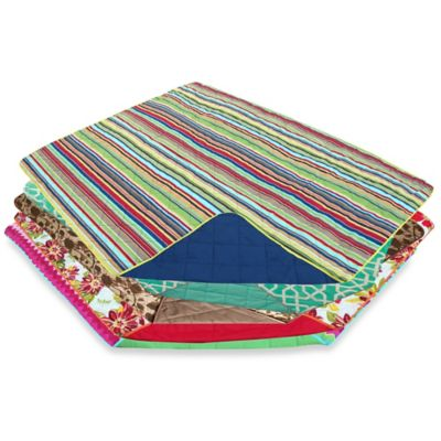 Out & About Indoor/Outdoor Water Repellent Montauk Travel Throw Blanket