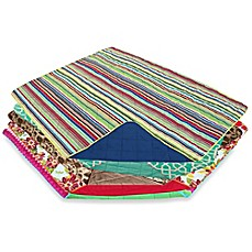 Out & About Indoor/Outdoor Water Repellent Print Travel Throw Blanket