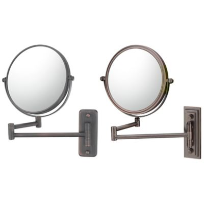 5X/1X Double Arm Extension Wall Mirror in Bronze