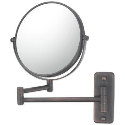 5X/1X Double Arm Extension Wall Mirror in Italian Bronze
