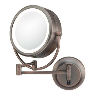 Kimball & Young Neo-Modern 5X/1X LED Double-Sided Wall Mirror in Bronze