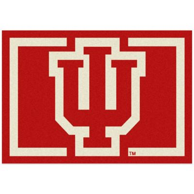 Indiana University 5-Foot 4-Inch x 7-Foot 8-Inch Medium Spirit Rug