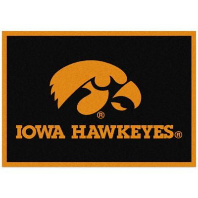 University of Iowa 7-Foot 8-Inch x 10-Foot 9-Inch Large Spirit Rug