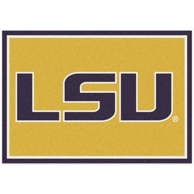 LSU 5-Foot 4-Inch x 7-Foot 8-Inch Medium Spirit Rug