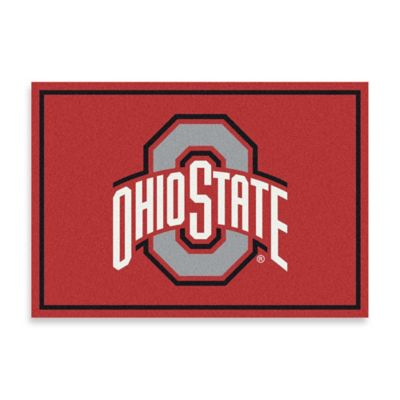 Ohio State University 5-Foot 4-Inch x 7-Foot 8-Inch Medium Fanatic Spirit Rug