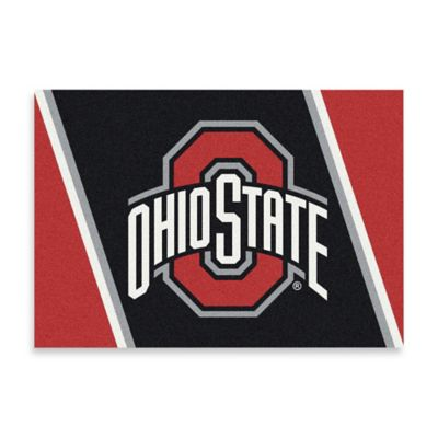 Ohio State University 2-Foot 8-Inch x 3-Foot 10-Inch Extra Small Spirit Rug