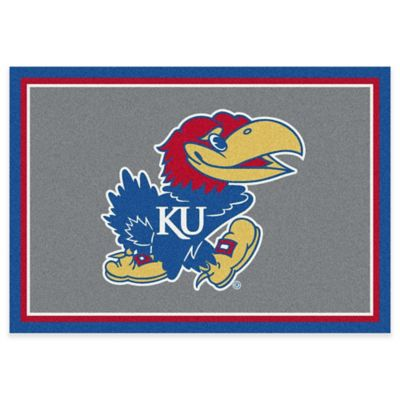 University of Kansas 5-Foot 4-Inch x 7-Foot 8-Inch Medium Spirit Rug