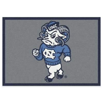 University of North Carolina 5-Foot 4-Inch x 7-Foot 8-Inch Medium Mascot Spirit Rug