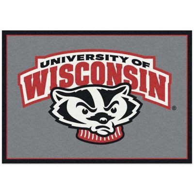 University of Wisconsin 3-Foot 10-Inch x 5-Foot 4-Inch Small Fanatic Spirit Rug