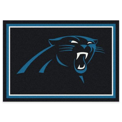 NFL Carolina Panthers 7-Foot 8-Inch x 10-Foot 9-Inch Large Team Spirit Rug