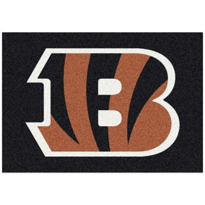 NFL Cincinnati Bengals 5-Foot 4-Inch x 7-Foot 8-Inch Medium Team Spirit Rug