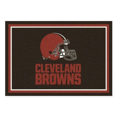 NFL Cleveland Browns 3-Foot 10-Inch x 5-Foot 4-Inch Small Team Spirit Rug