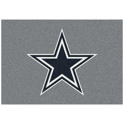 NFL Dallas Cowboys 5-Foot 4-Inch x 7-Foot 8-Inch Medium Team Spirit Rug