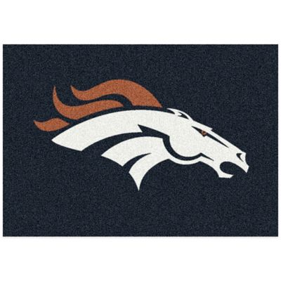 NFL Denver Broncos 3-Foot 10-Inch x 5-Foot 4-Inch Small Team Spirit Rug