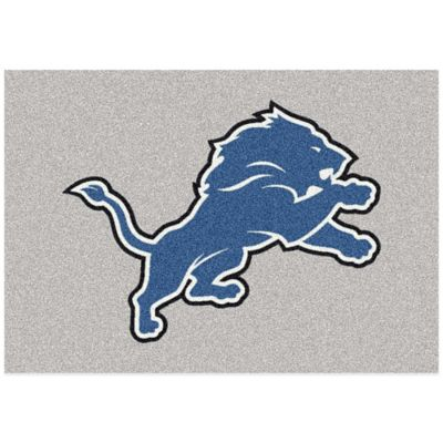 NFL Detroit Lions 3-Foot 10-Inch x 5-Foot 4-Inch Small Team Spirit Rug