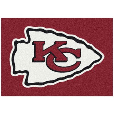 NFL Kansas City Chiefs 3-Foot 10-Inch x 5-Foot 4-Inch Small Team Spirit Rug