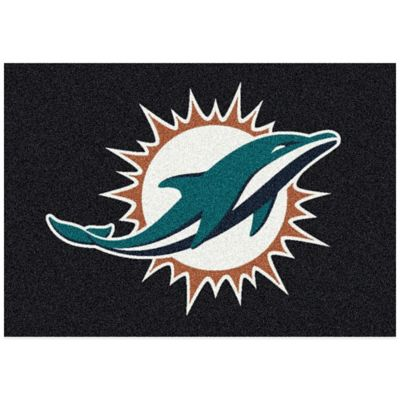 NFL Miami Dolphins 3-Foot 10-Inch x 5-Foot 4-Inch Small Team Spirit Rug