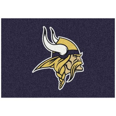 NFL Minnesota Vikings 3-Foot 10-Inch x 5-Foot 4-Inch Small Team Spirit Rug
