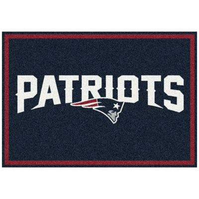 NFL New England Patriots 5-Foot 4-Inch x 7-Foot 8-Inch Medium Team Spirit Rug